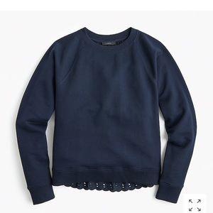 J.Crew Eyelet Back Sweatshirt